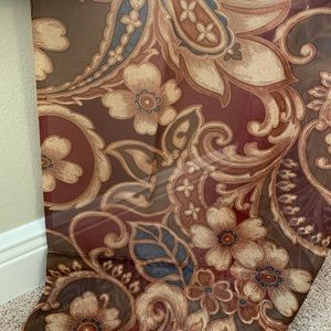 Persia Gold Multicolored Paisley Print Curtains.